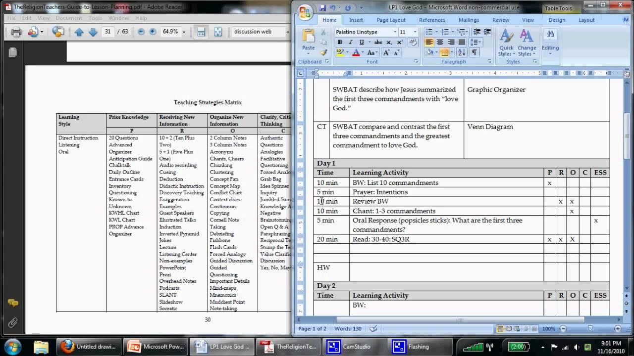 Selecting teaching strategies