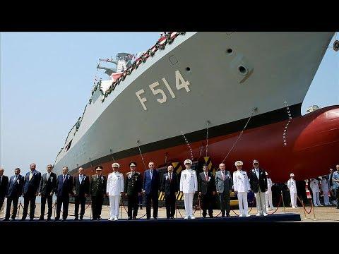 MİLGEM Projesi 4. Gemisi F-514 Kınalıada'nın Denize İndiriliş Töreni