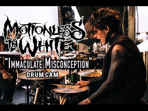 Motionless In White | Immaculate Misconception | Drum Cam (LIVE) thumbnail