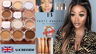 OXIDATION AGAIN?! FENTY BEAUTY CONCEALER AND  SETTING POWDER | UK REVIEW | KLAIYI HAIR GIVEAWAY
