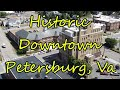 Aerial Tour of Historic Downtown - Petersburg, Va.