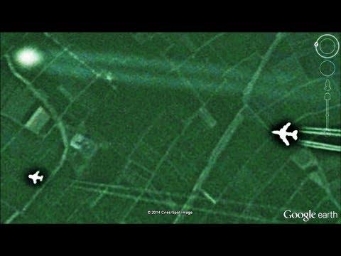 OVNI PERSEGUIDO POR 2 AVIONES GOOGLE EARTH 2014 COORDENADAS EN DESCRIPCION MIRALO TU MISMO
