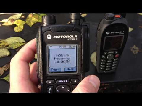 RX Sensitivity Test - Motorola MTH800 v MTP850S