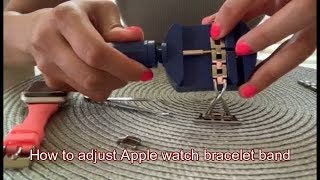 how to adjust steel band for apple watch