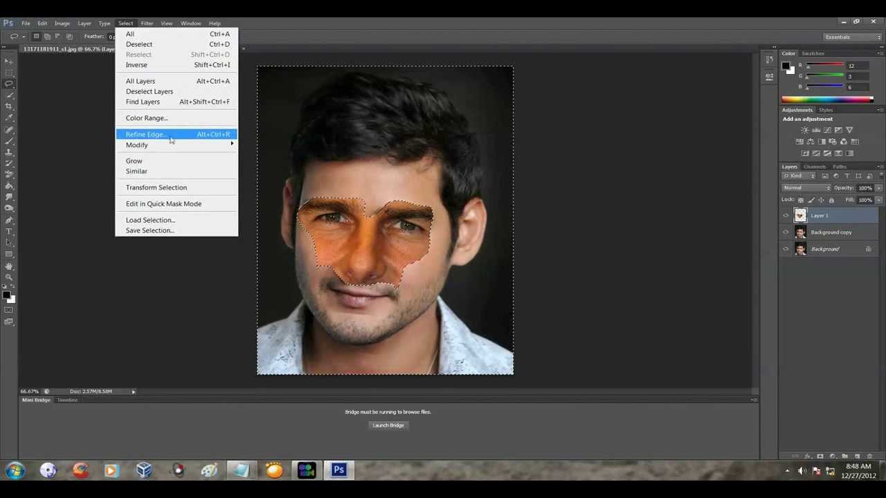 Photoshop cs6 face swap easy tutorial - YouTube