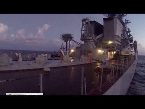 Кто прикрывает российских летчиков: репортаж с ракетоносца Москва