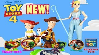 NEW! Toy Story 4 Toys Thinkway Toys Talking Woody, Bo Peep, Jessie Carnival Target Game Tubey Toys