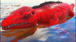 O Bebê Mosasaurus Fui Salvo Dos Megalodontes e Adotado Como enteado! Ark Survival Evolved