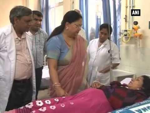 Dausa Road Accident: Rajasthan CM Raje visits injured at SMS hospital thumbnail