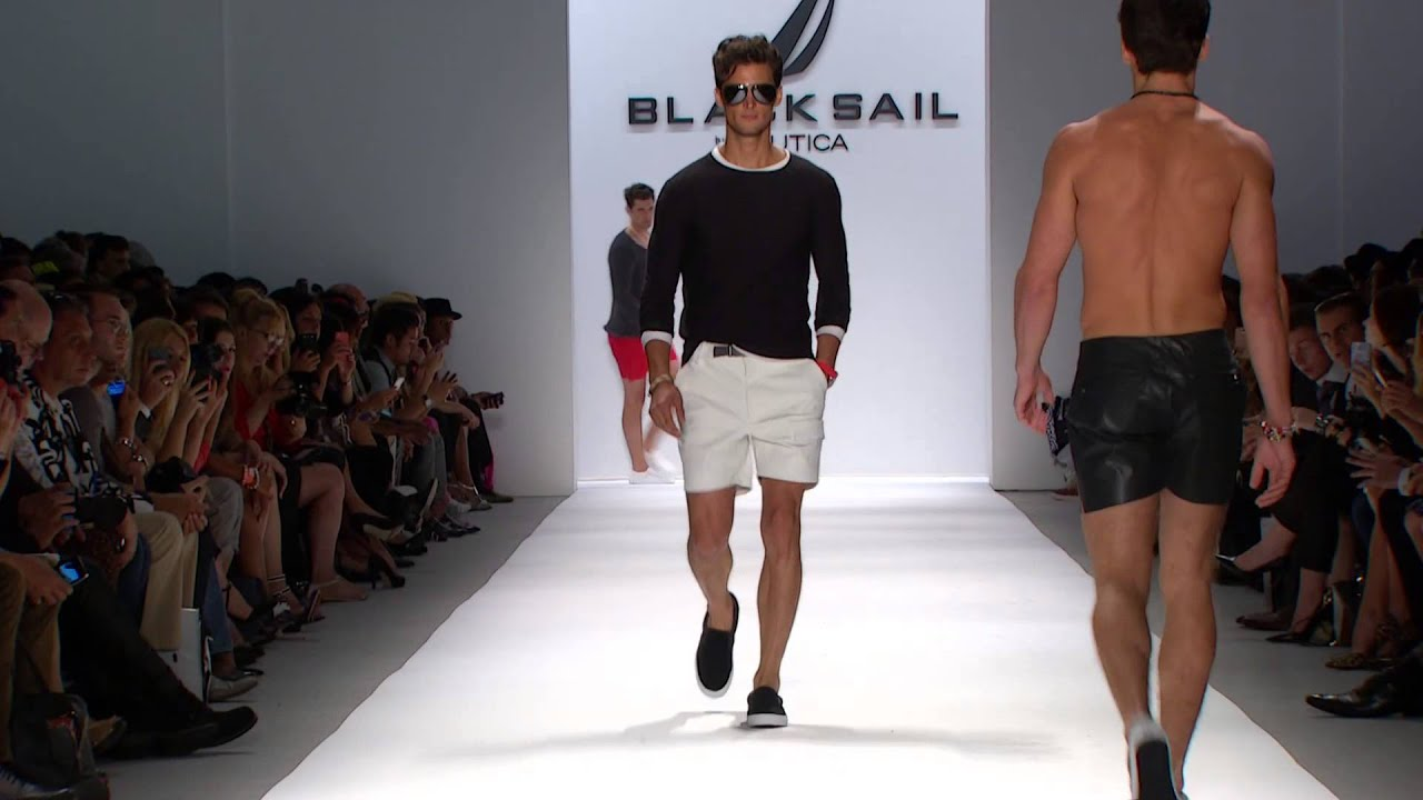 Nautica Men's Spring 2014 Black Sail Fashion Show Nautica Men s Spring