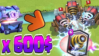 Clash Royale - SPARKY UNLOCKED!! x600$ CHEST SPREE (Unlocking Sparky)