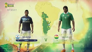 2014 FIFA World Cup Brazil: CONMEBOL Kits & Ratings (Full HD Gameplay)
