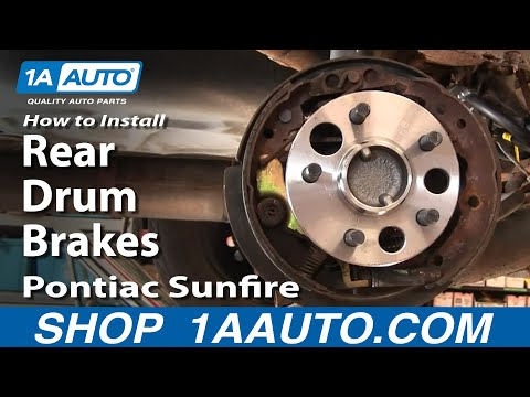 How To Install Replace Rear Drum Brakes Chevy Cavalier Pontiac Sunfire 1AAuto.com