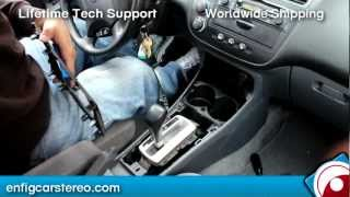 Honda Civic 00-05 Aux audio input installation for iPod iPhone Android