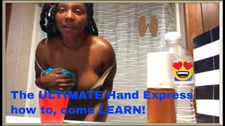 Howto handexpress breastmilk during engorgement phase