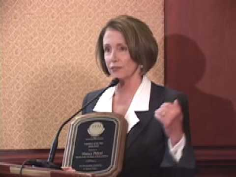 House Speaker Nancy Pelosi Receives the Legislator of the Year Award