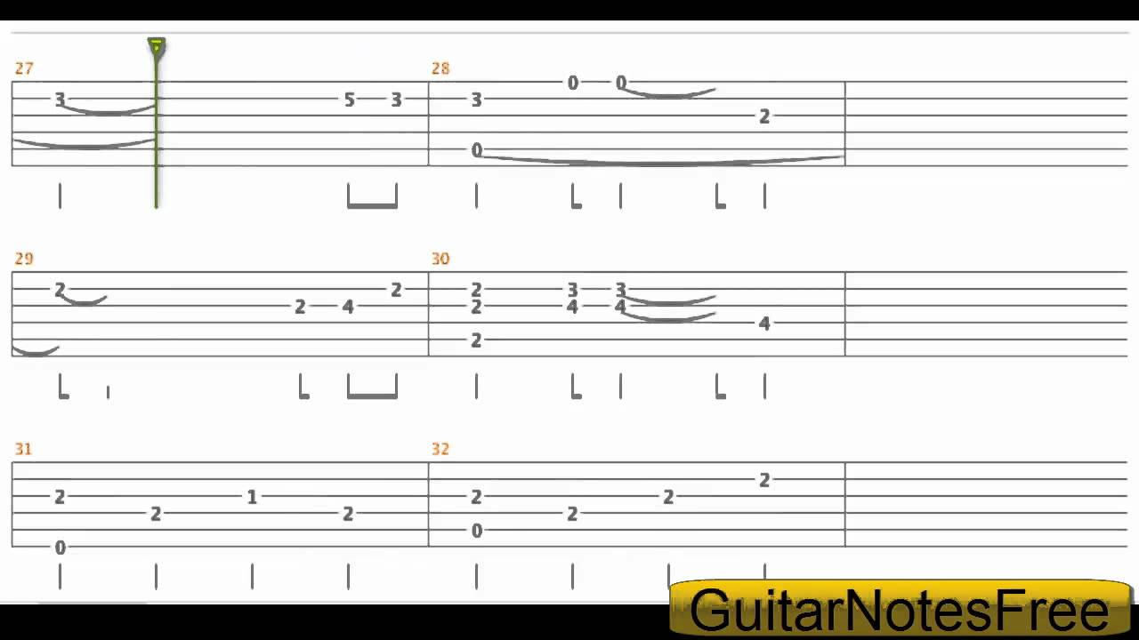 Kiss The Rain - Yiruma Guitar Tab HD - YouTube
