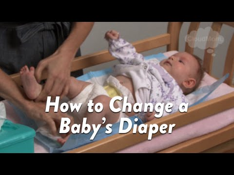 How To Change A Baby's Diaper | Cloudmom video