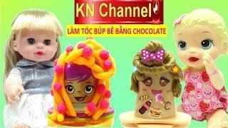 KN Channel BÉ NA LÀM TÓC BÚP BÊ BẰNG CHOCOLATE | ĐỒ CHƠI NHẬT BẢN ĐỘC LẠ CÙNG BÚP BÊ BABY ALIVE DOLL