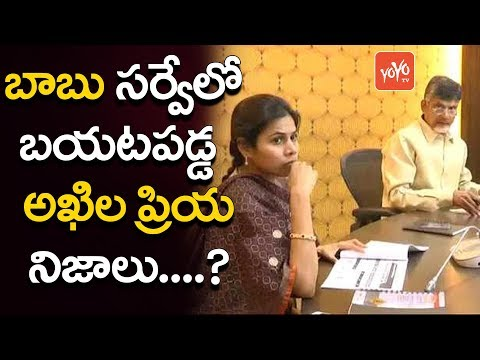Chandrababu Gets Shocking News from Bhuma Akhila Priya | Latest  Survey on Akhila Priya | YOYO TV