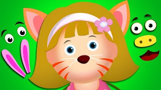 KidsCamp - Learn Animals | Let's Make An Animal's Face With Elly