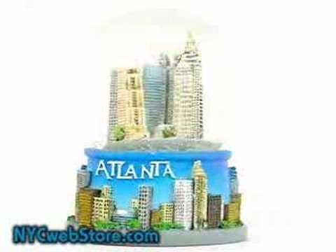 Atlanta Georgia Snow Globe