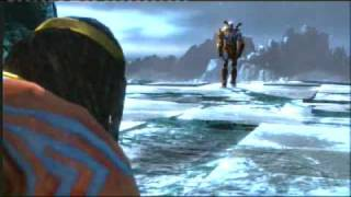 God Of War 3 Poseidon death and Gaia