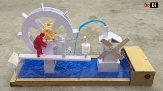 How To make Water wheel from Cardboard