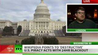 Wikiout! English Wikipedia anti-SOPA blackout