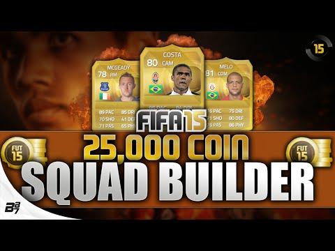 THE 25K BUDGET TEAM! w/ Douglas Costa | FIFA 15 Ultimate Team Squad Builder