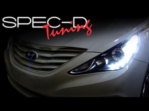 SPECDTUNING INSTALLATION VIDEO: 2011 - 2013 HYUNDAI SONATA LED PROJECTOR HEADLIGHTS