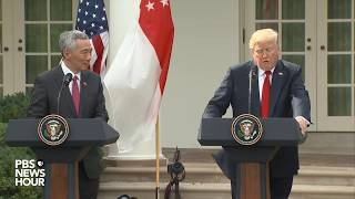 WATCH: President Trump, Singapore Prime Minister hold joint press conference