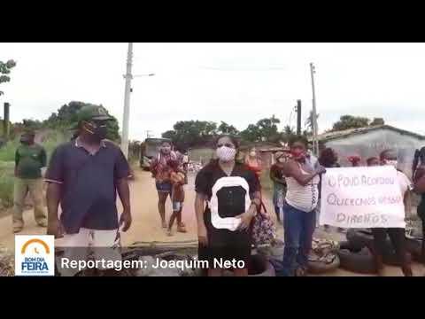 Manifestantes bloqueiam Estrada do Calundu na Noide Cerqueira