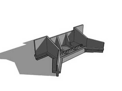 Small concrete spillway sketchup animation youtube for Small pond dam design