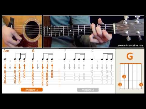 Jouer Let it be (The Beatles) - Cours guitare. Tuto + Tab