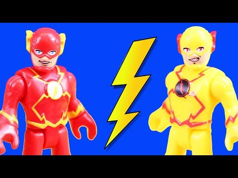 Imaginext Flash & Reverse Flash Speedsters Time Travel To Rescue Superheroes Batman & Superman