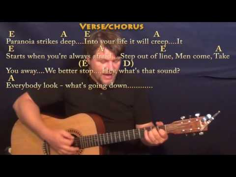 For What It's Worth (Buffalo Springfield) Guitar Cover Lesson with Chord/Lyrics - 16th Strum