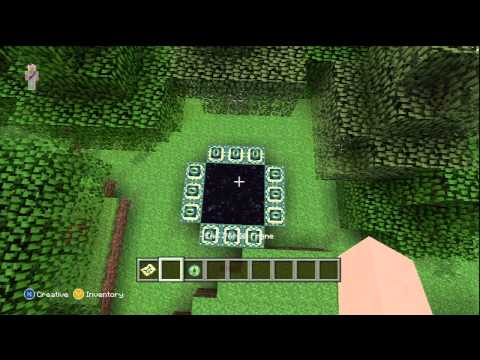 How to build a End Portal Minecraft Xbox 360