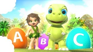 The Good Dinosaur ABC Alphabet Song Opening Surprise Eggs | Fruits and Vegetables | Fun ABC Song