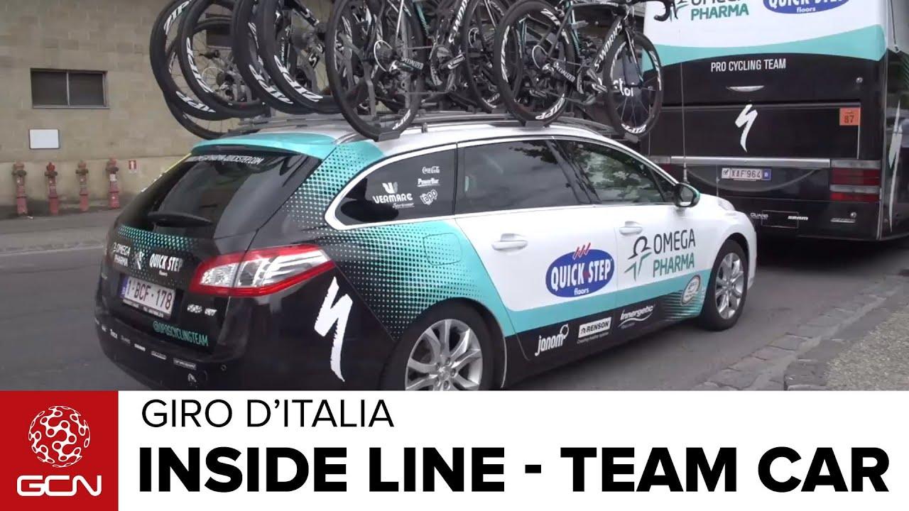 Giro D Italia Inside Line On Team Cars Youtube