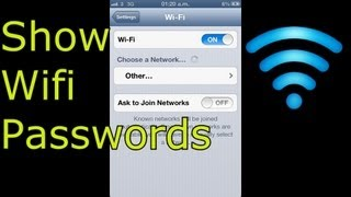 How To Show Wifi Passwords on Iphone