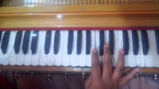 how to play EK PYAR KA NAGMA HAI hindi song on harmonium