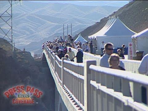 New Hoover Dam Bridge Opens to the Public - YouTube