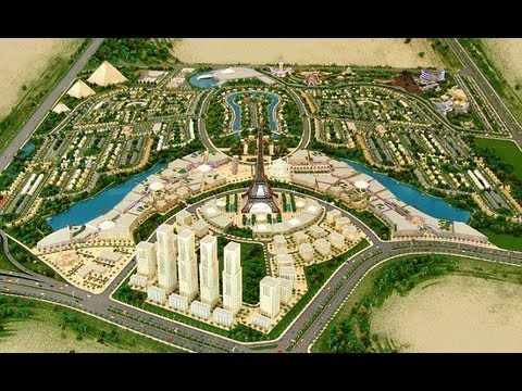 Falcon city of wonders in Dubai