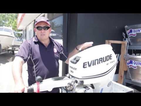 evinrude E-TEC review   Caloundra Marine   BRP Quintrex E-TEC