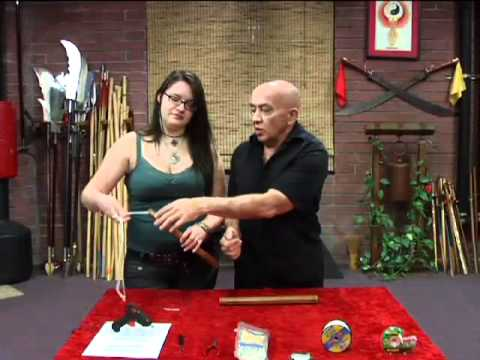 How to Restring Nunchaku, with Keith and Sylvia!