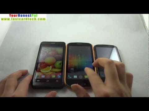 Jiayu G3 vs HDC Galaxy S3 EX vs Newman N1 Antutu Scores