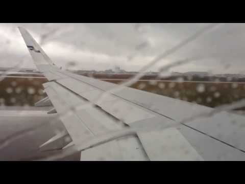 Finnair A321 Sharklet (A321ER) rainy takeoff from Helsinki