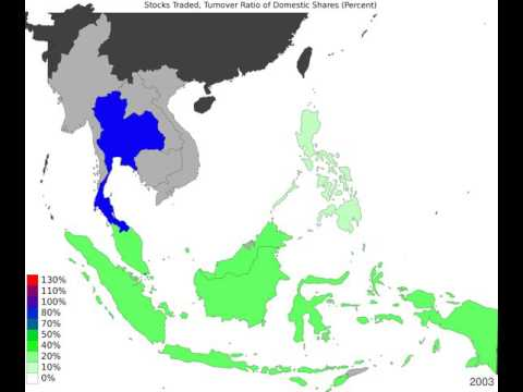 South East Asia - Stocks Traded, Turnover Ratio Of Domestic Shares - Timelapse