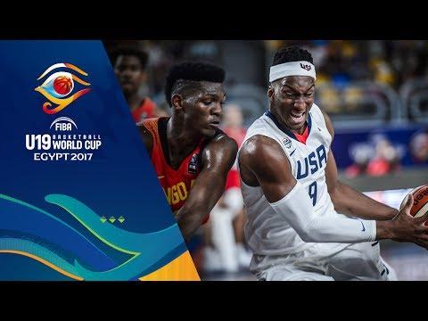 USA v Angola - Highlights - FIBA U19 Basketball World Cup 2017